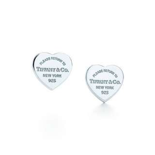 Return to Tiffany heart earrings