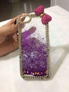Iphone 5s case hello kitty glitter liquid bening hardcase