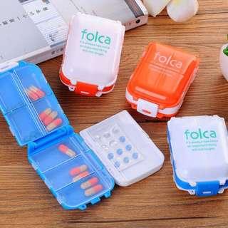 8 Compartments Portable Travel Medicine Vitamin Pill Organizer Box B13712