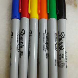 Sharpie Fine Point x 5
