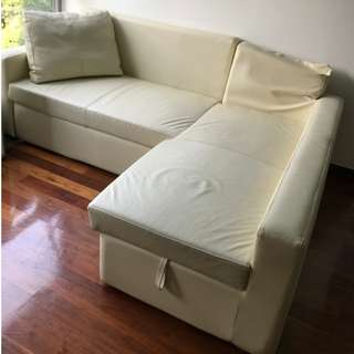 [FREE]Leather Sofa Bed with storage from Pricerite