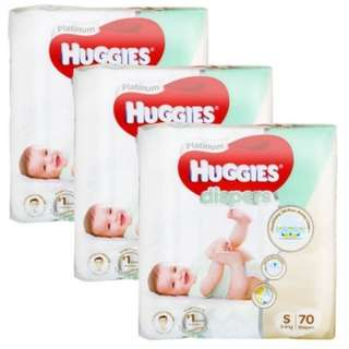 Huggies Platinum Diapers Size NB / S / M / L / XL Carton Sale