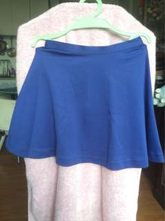 Uniqlo Blue Zippered Skirt