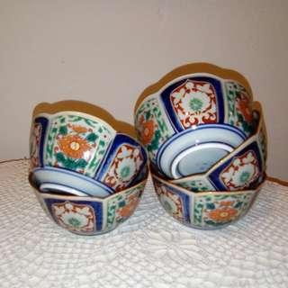 🆕5 Japanese tea cups