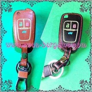 Chevrolet Cruze Orlando Remote Controller Key Leather  Cover Protective Case with Luminous Outlining