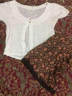 Set rok bunga putih
