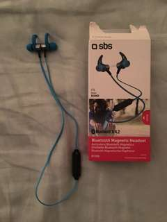 SBS Bluetooth earphones running wireless