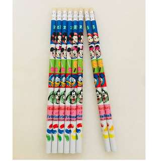 Mickey & Friends 2B Pencils (8 pcs)