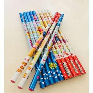 Pooh & Friends 2B Pencils - 1 Doz (Mix Design)