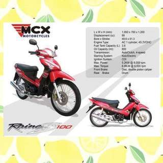 MCX Red Motorcycle