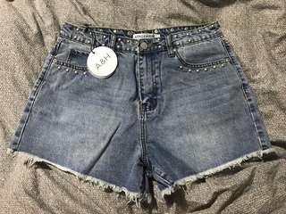 BNWT Denim Studded Shorts