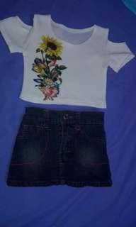 Terno kids top and skirt