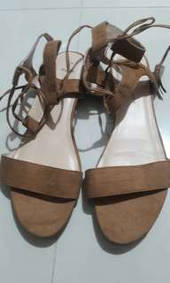 Pre loved New Look Wide Fit Lace Up Sandals