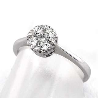 Mother's Day Sale! Natural Diamond Ring On 18K White Gold