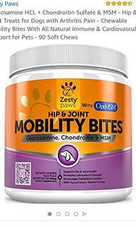 Zesty Paws Mobility Bites Dog Supplement