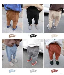 Brand New baby boy fleece pants grey and caramel (100cm and 90cm)