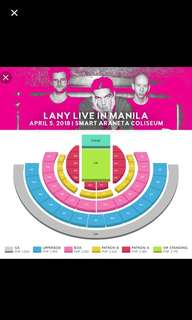 Selling 2 Lany Day 2 Box Tickets