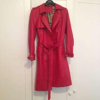 Lamb leather Trench Coat