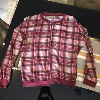 BERSHKA Red Plaid Jacket