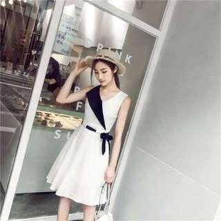 [Dress Hanna White AK] dress wanita baloteli putih