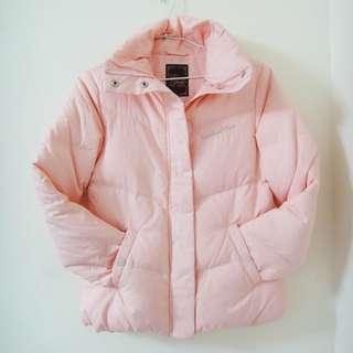 🚚 【在庫】EDWIN SOMETHING 輕暖色調柔細典雅羽絨外套 女款 粉紅S 原價3990特700