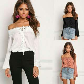 American style off shoulder top