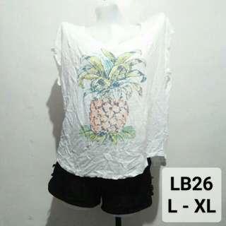 Pineapple white shirt