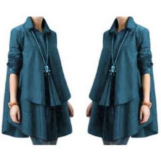 [Blouse Hiraku Tosca SW] pakaian wanita atasan tosca