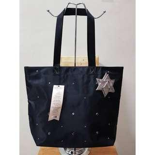 Bath & Body Works VIP Tote Bow Sparkles Bag Black