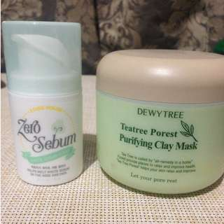 Korean Skincare Bundle #1 (Oily Skin): Clay Mask + Matting Cream