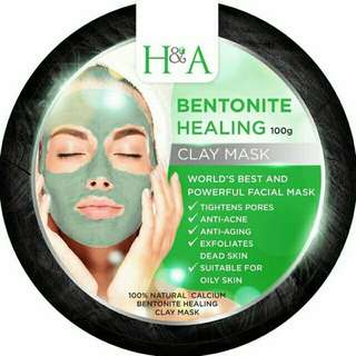 H&A Bentonite Healing Clay Mask 100g