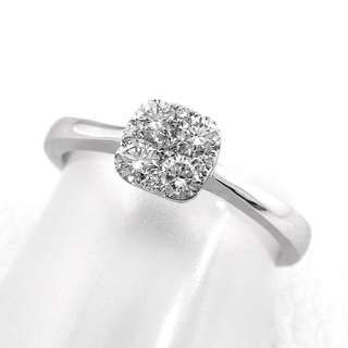 Mother's Day Sale! Natural Diamond On 18K White Gold Ring