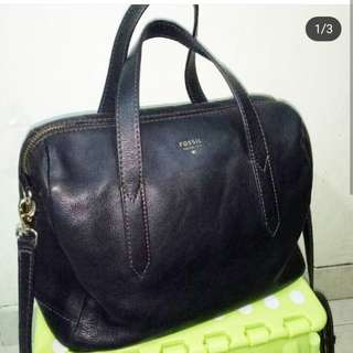 Pre❤ fossil sidney stachel black, normal used, only bag 1.35mio