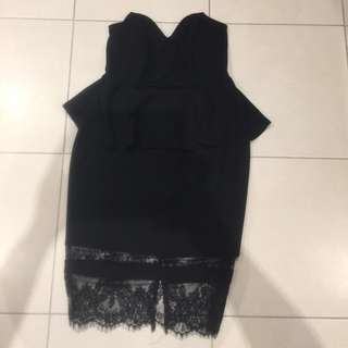 City Chic Strapless Dress