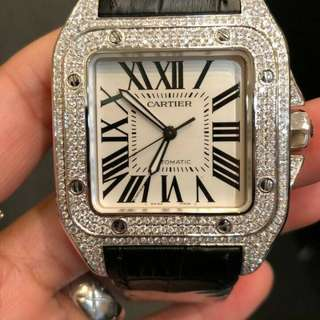 Cartier Santos XL with diamonds