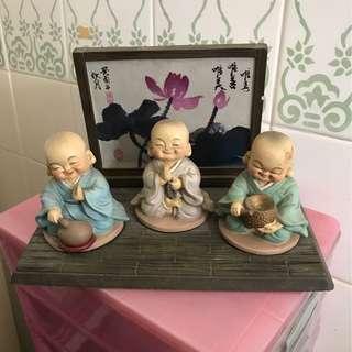 Three little monks