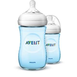 {NEW} Avent Natural Bottle 260ml - blue color