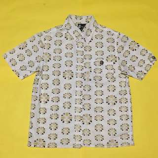 White Bros Patterned Button Down Polo