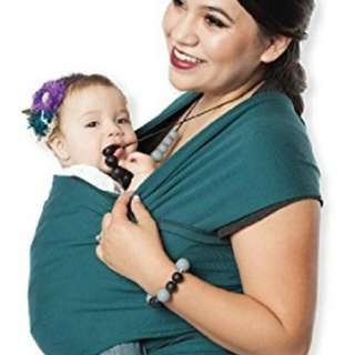 Moby Wrap baby carrier in Turquoise