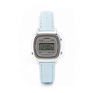 Casio Mini Pastel Blue Leather Digital Watch