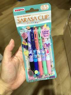 Limited Edition Sarasa Clip Fantasy Set Of 5 Pens