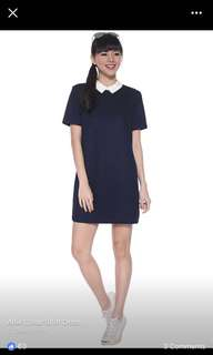 Love Bonito Alfie Collar Shift Dress (Small , Navy)