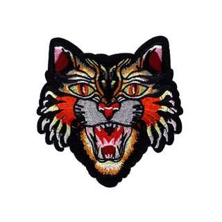 Tiger Head Gucci Style Iron On Patch