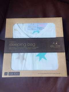 aden+anais bamboo sleeping bag in milky way - size L 12-18mths