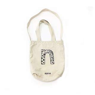 Bag ::: 字母印花手提肩背斜背多way托特帆布包