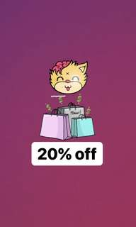 20% OFF. ALL MUST GO!!