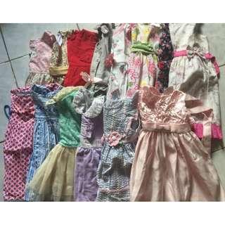 Take all 14pcs Branded Girl Dress 12-24months