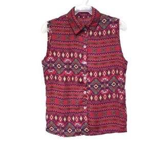 Aztec polo sleeveless | fits M-L