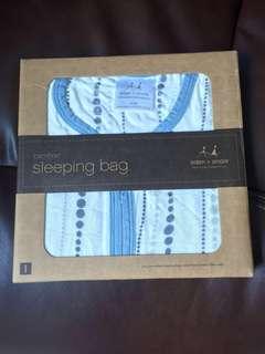 aden+anais bamboo sleeping bag in moonlight beads - size L 12-18mths
