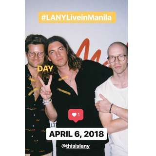 2 Lany concert tickets, Patron A